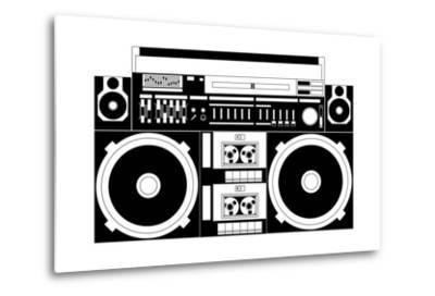 Vector Image of a Classic Boombox-Chisnikov-Metal Print