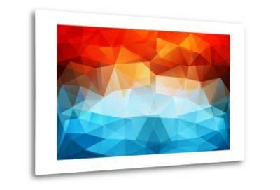 Abstract Geometric Background-Slanapotam-Metal Print