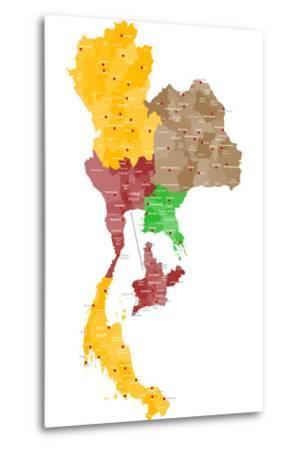 Map of Thailand-malachy120-Metal Print
