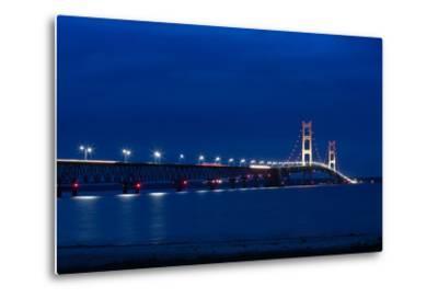 Mackinac Bridge at Night-cristalsimon-Metal Print