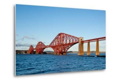 The Forth Bridge, Finally, Painted!- Versevend-Metal Print