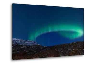 Northern Lights (Aurora Borealis) between Fjords-Jamenpercy-Metal Print