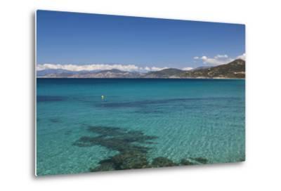 Water View, Ille Rousse, La Balagne, Corsica, France-Walter Bibikow-Metal Print