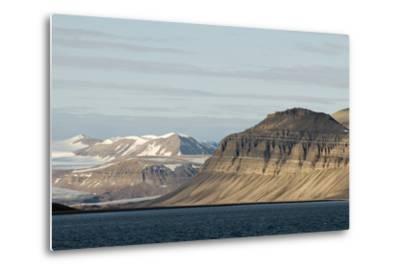 Landscape, Sassenfjorden, Spitsbergen, Svalbard, Norway-Steve Kazlowski-Metal Print