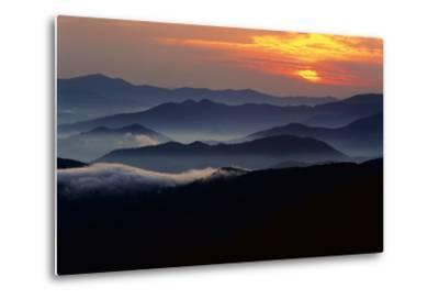 Sunset over the Great Smoky Mountains National Park, Tennessee, USA-Jerry Ginsberg-Metal Print