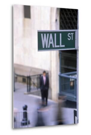 Wall Street Sign, Manhattan, New York, USA-Peter Bennett-Metal Print