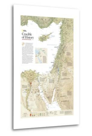 2008 Crucible of History, the Eastern Mediterranean-National Geographic Maps-Metal Print