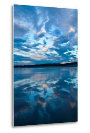 Clouds Reflect Off the Wet Sand on a Wide Beach-Vickie Lewis-Metal Print