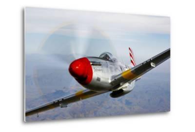 A P-51D Mustang in Flight Near Prescott, Arizona--Metal Print