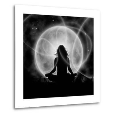 Moon Meditation-Detelina-Metal Print