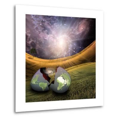 Earth Egg Is Hatched-rolffimages-Metal Print