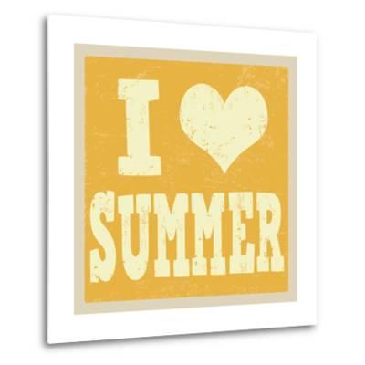 I Love Summer Poster-radubalint-Metal Print