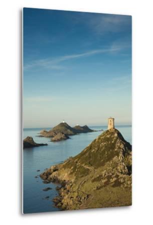 View of the Iles Sanguinaires at Dawn, Ajaccio, Corsica, France-Walter Bibikow-Metal Print
