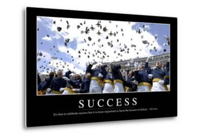 Success: Inspirational Quote and Motivational Poster--Metal Print