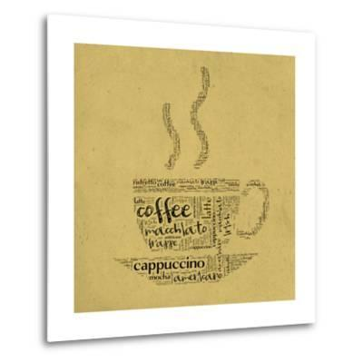 Coffee Cup Of Words-alanuster-Metal Print