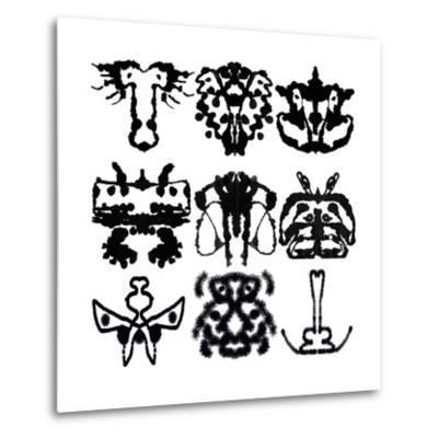 Nine Rorschach Test-akova-Metal Print