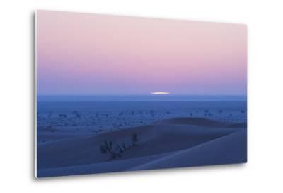 Sunrise over the Sand Dunes of the Rub' Al Khali, the Empty Quarter, Oman-Bill Hatcher-Metal Print
