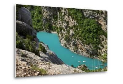 Boating in Gorges Du Verdon, Alpes De Haute Provence, France-Brian Jannsen-Metal Print
