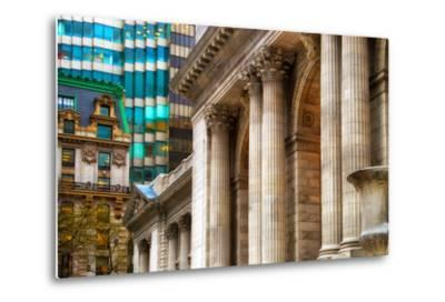 The New York Public Library, Bryant Park, Manhattan, New York Ci-Sabine Jacobs-Metal Print