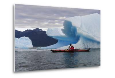 Sea Kayaking Among Icebergs, Laguna San Rafael NP, Aysen, Chile-Fredrik Norrsell-Metal Print