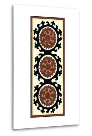 Small Suzani Panel IV-Chariklia Zarris-Metal Print