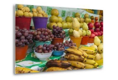 Local Fruit and Vegetables at a Market in San Juan Chamula, Mexico-Michel Benoy Westmorland-Metal Print