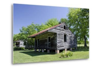 Slave Cabin, Vacherie, New Orleans, Louisiana, USA-Cindy Miller Hopkins-Metal Print