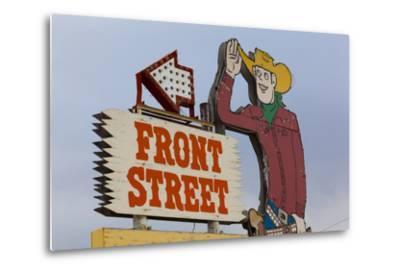 Front Street Western Town, Ogallala, Nebraska, USA-Walter Bibikow-Metal Print