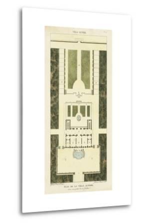 Plan de la Villa Altieri-Bonnard-Metal Print