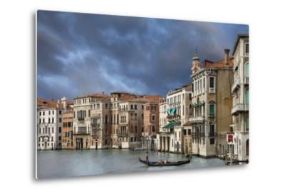 A Gondola on the Grand Canal, Venice, Italy-Jaynes Gallery-Metal Print