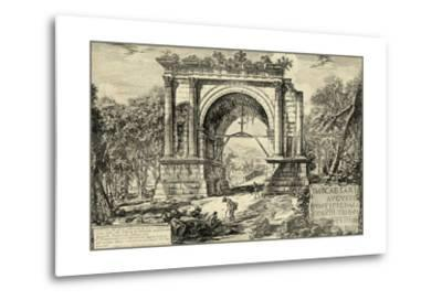 Vintage Roman Ruins II-Giovanni Piranesi-Metal Print