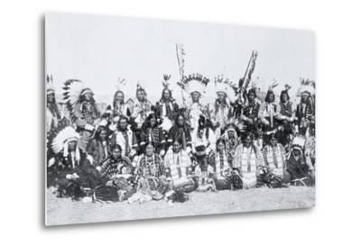 Sioux Indians, Pine Ridge, South Dakota, C.1910--Metal Print