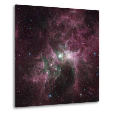 Infrared View of the Carina Nebula--Metal Print