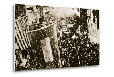 End of the War: New York, 1918--Metal Print