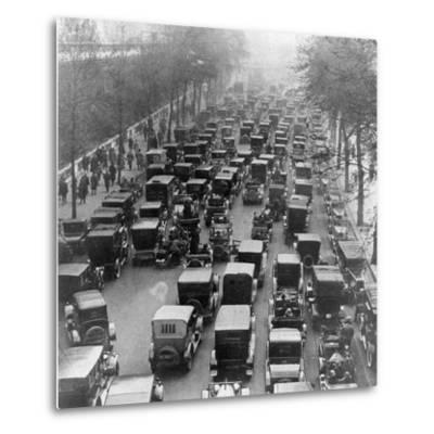The Great Trek to Work During the General Strike: the Embankment--Metal Print