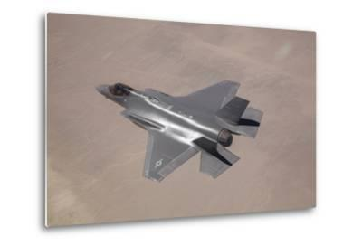An F-35 Lightning Ii Flies over Edwards Air Force Base, California--Metal Print
