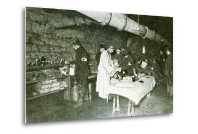 Dressing-Station in the Casemates of Douaumont Fort, C.1916--Metal Print