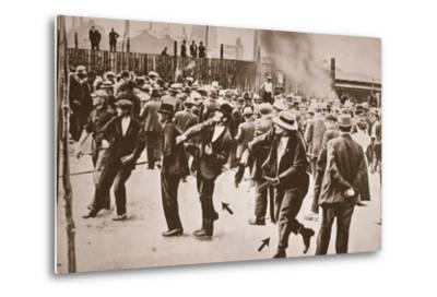 The Standard Oil Strike, Bayonne, New Jersey, 1915--Metal Print