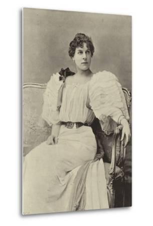 "Miss Jessie Millward, as Margaret Marrable, in ""The Fatal Card""--Metal Print"