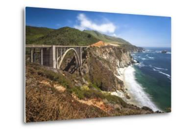 The Bixby Bridge Along Highway 1 on California's Coastline-Andrew Shoemaker-Metal Print
