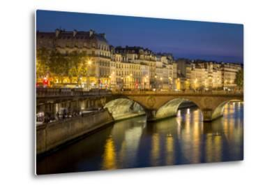 Pont Neuf and the Buildings Along River Seine, Paris France-Brian Jannsen-Metal Print