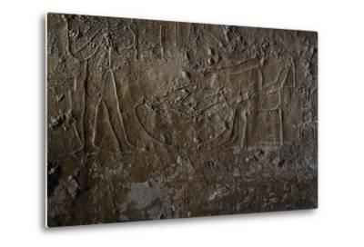 Fish Seller, Relief, Processional Ramp of Pyramid of Unas, Saqqara--Metal Print