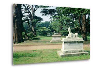 Chiswick Gardens, Middlesex, View of the Sphinx--Metal Print