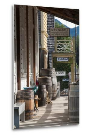 Main Street in Old Gold Town Barkerville, British Columbia, Canada-Michael DeFreitas-Metal Print