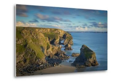 Sunset over the Bedruthan Steps Along the Cornwall Coast, England-Brian Jannsen-Metal Print