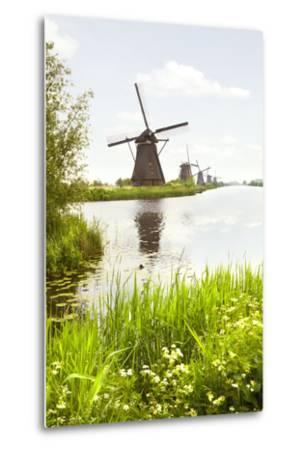 Row of Windmills in Kinderdijk, the Netherlands-Colette2-Metal Print