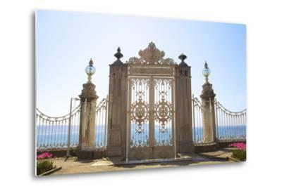 Gate to the Bosphorus, Dolmabahce Palace, Istanbul, Turkey, Europe-Neil Farrin-Metal Print