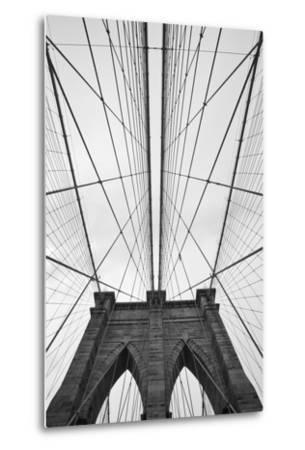 Brooklyn Bridge, New York City-Paul Souders-Metal Print