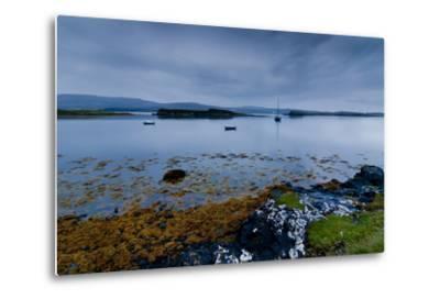 Strange Twilight Seascape of Loch Dunvegan on the Isle of Skye-Charles Bowman-Metal Print