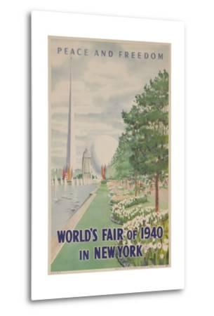 1940 New York World's Fair Poster--Metal Print